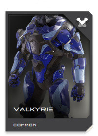 VALKYRIE armor features integral inertial dampeners and full compatibility with all known human and Covenant flight systems.