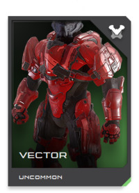 VECTOR-class Mjolnir armor is a hybrid pilot/infantry design first used by the Spartan reconnaissance team tasked with covert assessment of Alpha Halo debitage scattered across the surface of Basis.