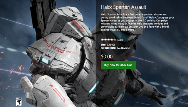 free Spartan Assault XB1