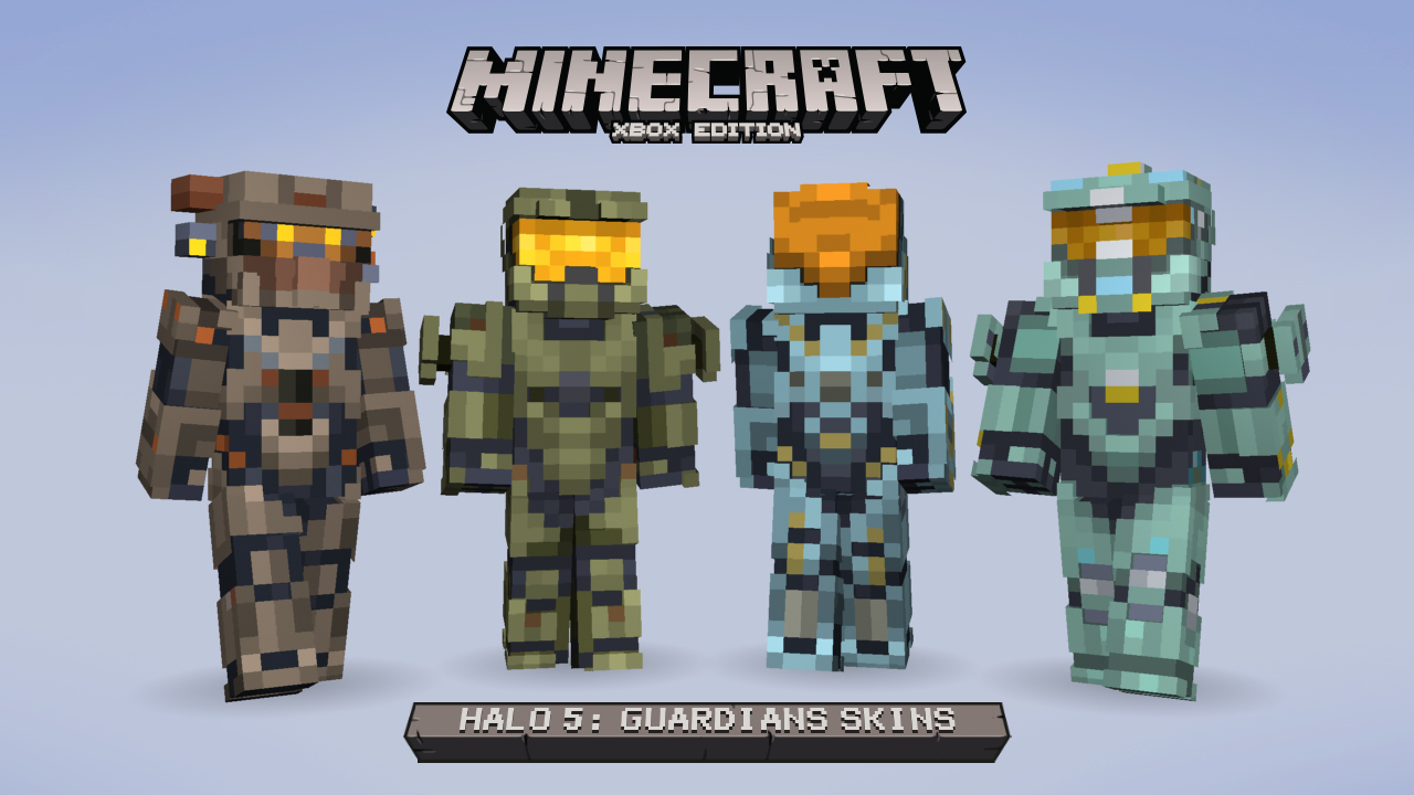 Halo 5 Guardians Minecraft Lineup Blue Team
