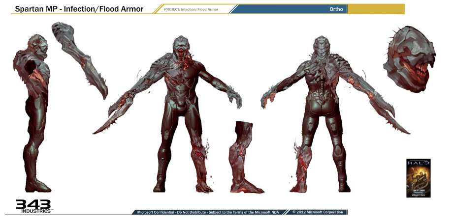 Halo Concept Art: Halo 4's Covenant, Flood and Forerunners