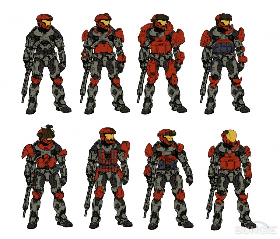 Halo Concept Art Reach Equipment And Characters Halofanforlife