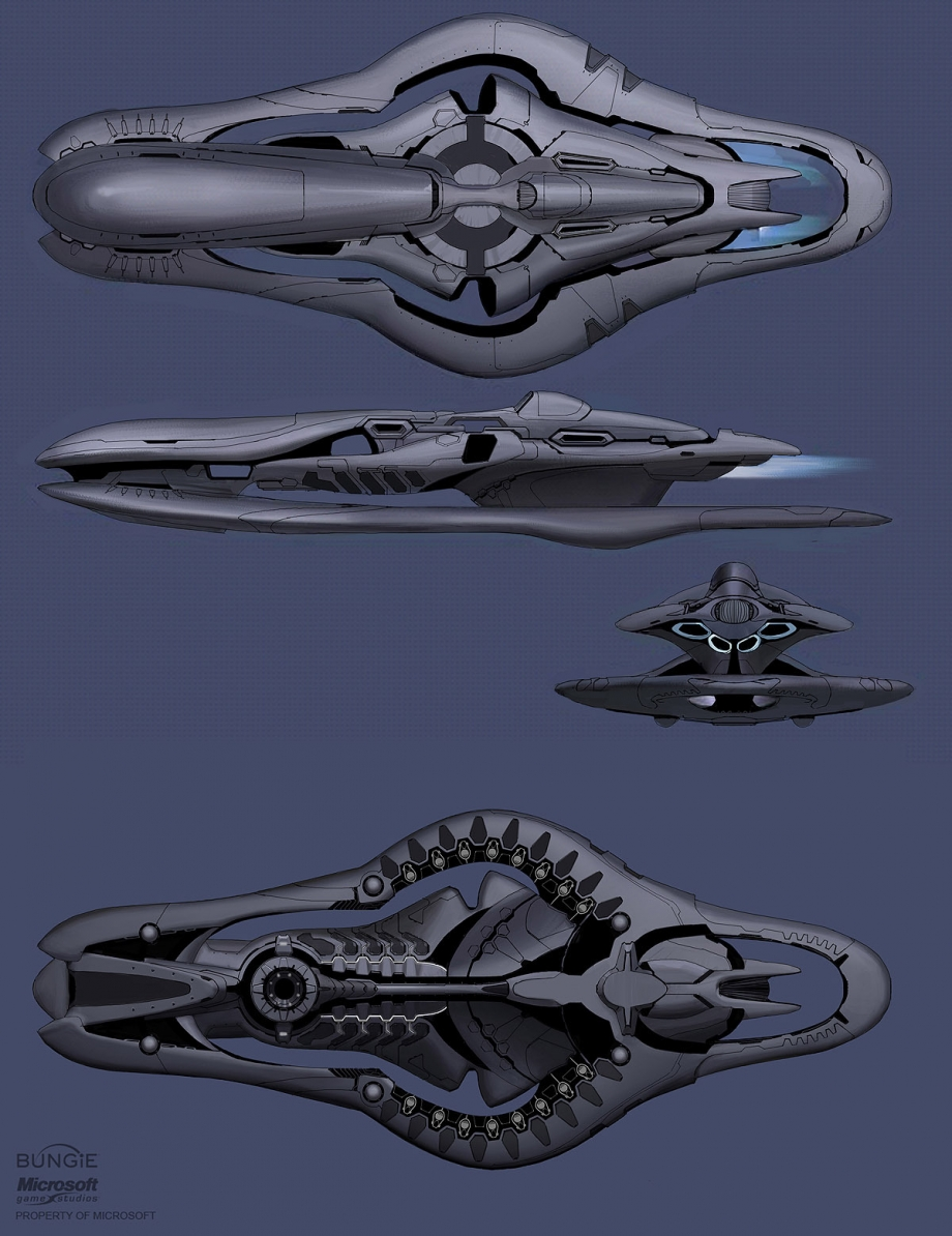 Halo Concept Art: Reach Civilian vehicles/ships; Covenant ...