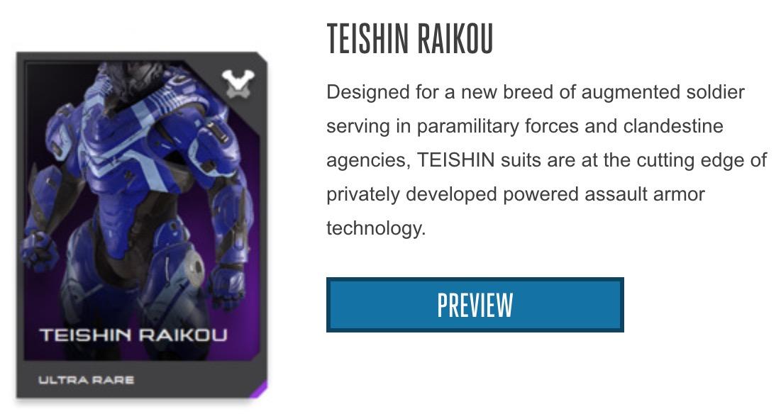 Teishin Raikou Armor